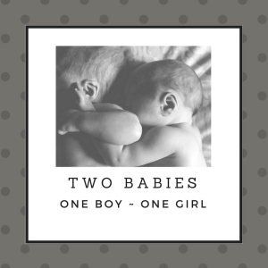 Two babies bw