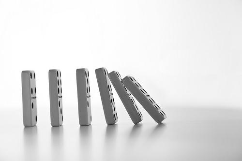 dominoes falling photo