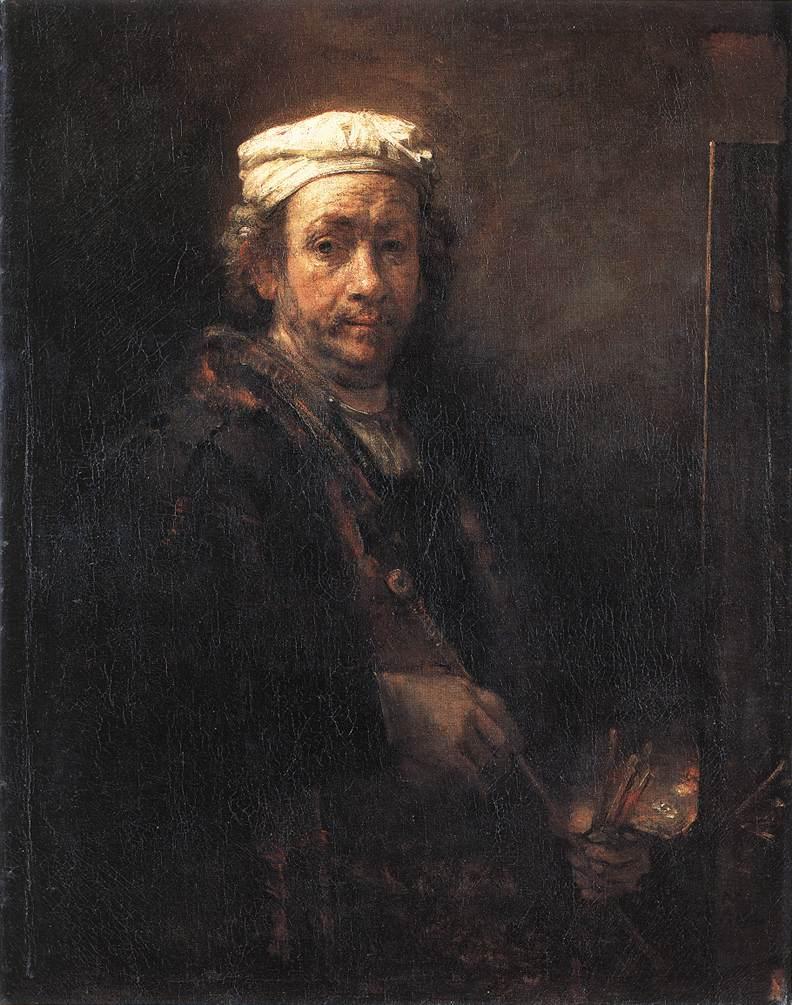 Rembrandt at easel